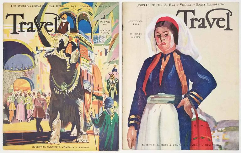 Travel. September 1929 and January 1932. VINTAGE MAGAZINE - TWO ISSUES. WINTER SPORTS / CUBA / RIO.