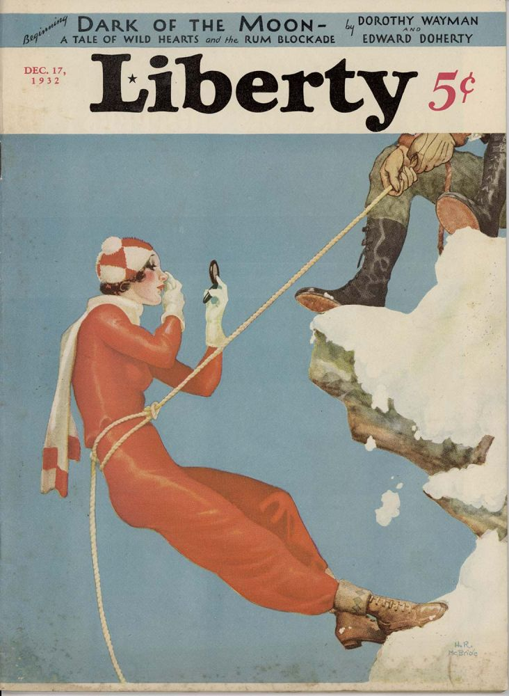 Liberty. America's Best Read Weekly. December 17, 1932. MOUNTAINEERING / COCA-COLA / LUCKY STRIKE / CHRISTMAS.