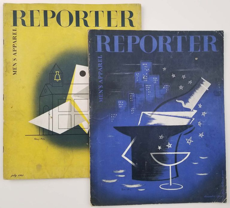 Men's Apparel Reporter. July and December 1941 [2 ISSUES OF VINTAGE MAGAZINE]. MEN'S HATS / NEW YEAR'S COVER / FASHION - 1941.
