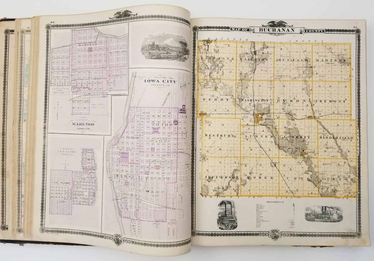 Illustrated Historical Atlas of the State of Iowa. IOWA STATE ATLAS.