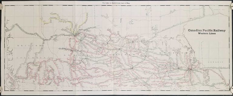 Canadian Pacific Railway. Western Lines. CANADIAN PACIFIC RAILWAY.