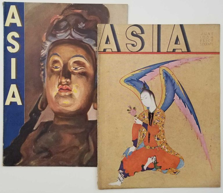 Asia. June and October 1934. TWO ISSUES OF VINTAGE MAGAZINE