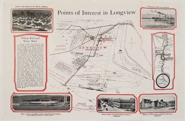 Visitor's Guide to Longview Washington. The New Industrial City of the Pacific Northwest. WASHINGTON STATE - LONGVIEW UNDER CONSTRUCTION.