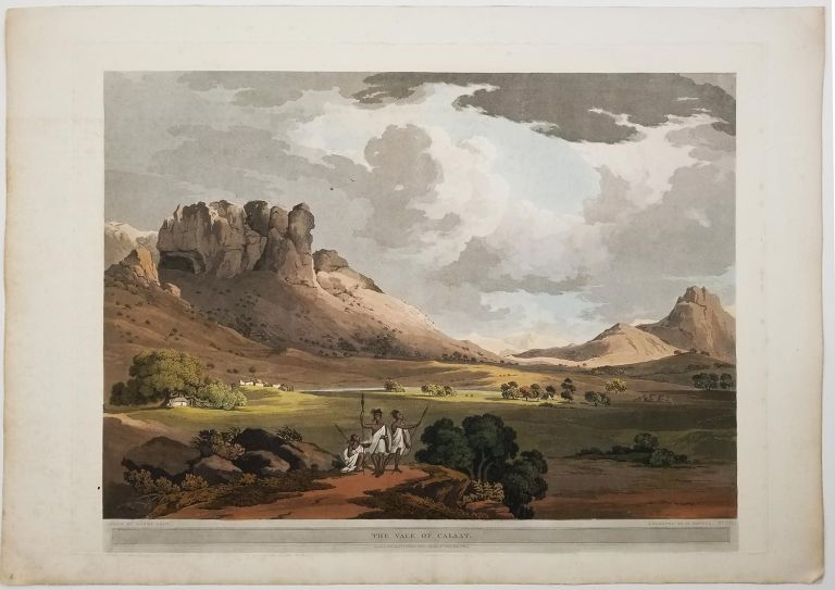 The Vale of Calaat. [FROM: Twenty-Four Views in St. Helena, The Cape, India, Ceylon, The Red Sea, Abyssinia and Egypt.]. EAST AFRICA - ETHIOPIA.