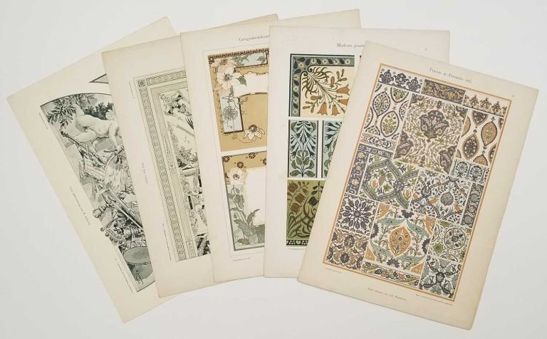 Twenty-three color plates from Dekoratie-motieven. ART NOUVEAU / CHROMOLITHOGRAPHS.