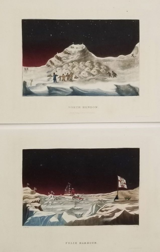 """COLOR LITHOGRAPHS / MEZZOTINTS from """"Narrative of a Second Voyage in Search of a North-West Passage"""" 1834. EXPLORATION - ARCTIC - ESKIMO."""