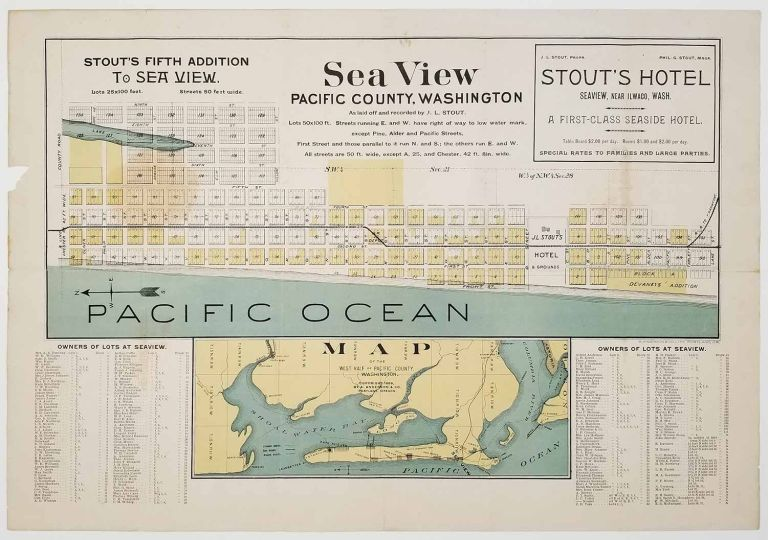 Sea View Pacific County, Washington As Laid off and recorded by J.L. Stout. WASHINGTON STATE - SEA VIEW - REAL ESTATE.