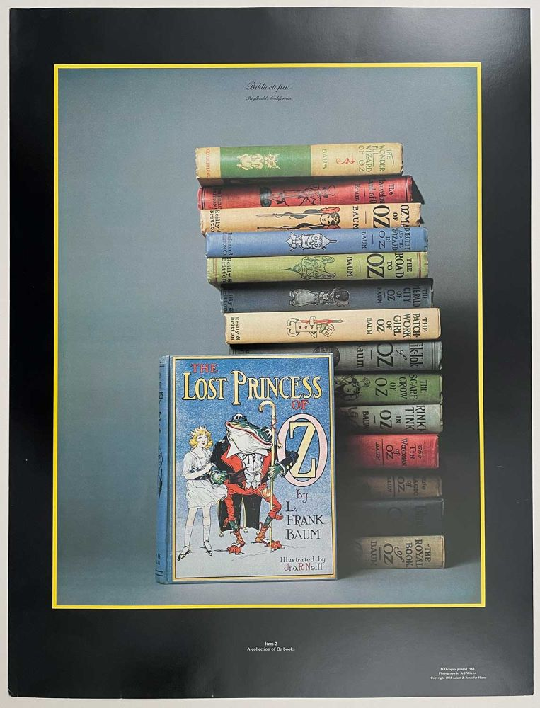 Biblioctopus. Idyllwild, California. Item 2: A collection of Oz books. [COLOR POSTER]. L. FRANK BAUM.