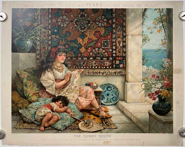 The Sunny South. PEARS SOAP ANNUAL CHROMOLITHOGRAPH - ORIENTAL RUG.