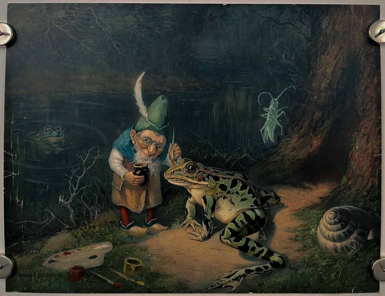 [Little old man of the woods]. FAIRY TALE - DWARF AND FROG.