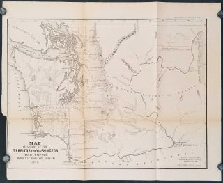 Map of a Part of the Territory of Washington to Accompany Report of Surveyor General 1855.