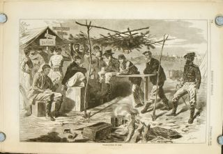 Thanksgiving in Camp. IN COMPLETE MAGAZINE Harper's Weekly, November 29, 1862. -29