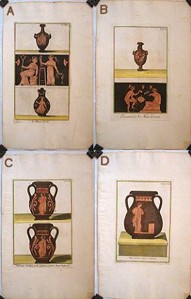 Decorative Greek Vase Engraving