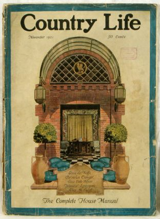 Country Life. 1921 - 11. ARCHITECTURE / INTERIOR DESIGN