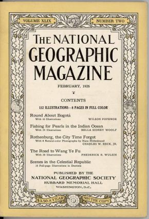 The National Geographic Magazine. 1926 - 02. CHINA - CENTRAL ASIA