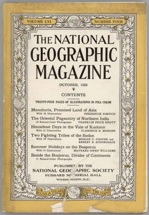 The National Geographic Magazine. 1929 - 10. MANCHURIA / INDIA