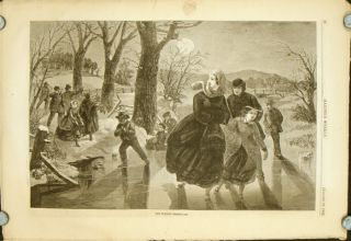 The Skating Season 1862. IN COMPLETE ISSUE OF HARPER'S WEEKLY, January 18, 1862. -18.