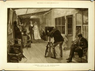 A Wedding Party at the Photographers. From the Picture by M. Dagnan-Bouveret in the Paris Salon....