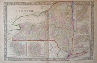 County Map of the State of New York. NEW YORK STATE