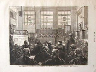 The Central Criminal Court During the Trial of Henry and Thomas Wainwright. CRIMINAL TRIALS