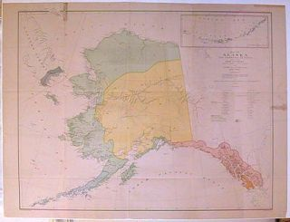Map of Alaska and Adjoining Regions compiled by Ivan Petroff Special Agent Tenth Census 1880....