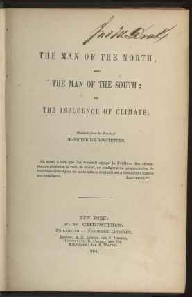 The Man of the North, and The Man of the South; or The Influence of Climate. Ch-Victor De...