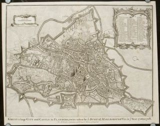 Ghent a large City and Castle in Flanders, twice taken by y Duke of Marlborough Viz. In y Year...