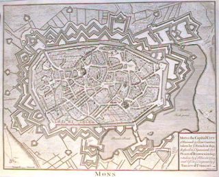 Mons. Mons the Capital City of Hainault in y Low Countries, taken by y French in 1691, Restor'd...