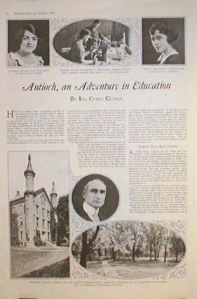 Antioch, an Adventure in Education. OHIO - ANTIOCH COLLEGE, Ida Clyde Clarke