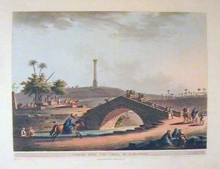 Bridge Over the Canal of Alexandria. EGYPT