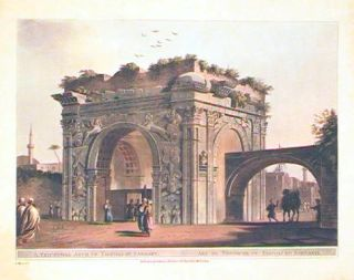 A Triumphal Arch of Tripoli In Barbary. Arc de Triomphe de Tripoli en Barbarie. NORTH AFRICA