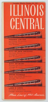 Illinois Central. Main Line of Mid-America. Timetables Effective October 25, 1959. ILLINOIS...