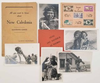 Lot of EIGHT items including 5 photos; All you want to know about New Caledonia. Illustrated...
