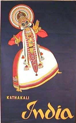 Kathakali India. [VINTAGE POSTER]. INDIA