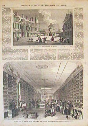 Interior View of John P. Jewett & Co.'s New and Spacious Bookstore, No. 117 Washington Street,...
