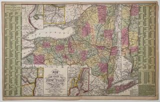 Map of the State of New York Compiled From the Latest Authorities. [COWPERTHWAIT]. NEW YORK STATE