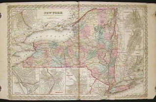 New York. [MAP 1859]. NEW YORK STATE