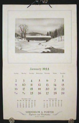 1955 Calendar. Sanderson & Porter Engineers and Constructors. New York. FERMIN ROCKER