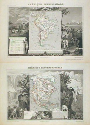Amerique Septentrionale TOGETHER WITH Amerique Meridionale. (North America & South America)....