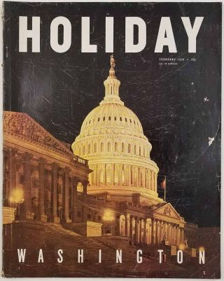 Holiday Magazine. February 1950. D. C. / FLORIDA PICTORIAL MAP WASHINGTON