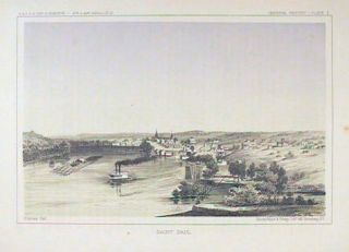 Saint Paul. [Vintage Pacific Railroad Survey Lithograph]. MINNESOTA - SAINT PAUL