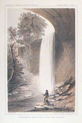 Minnehaha or Brown's Falls Near Fort Snelling. [Vintage Pacific Railroad Survey Lithograph]....