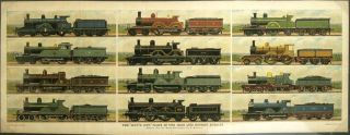 "The ""Boy's Own"" Plate of Our Main Line Express Engines. TRAINS - GREAT BRITAIN"