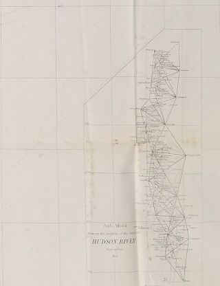 Sketch B Showing the progress of the Survey in Section No. II. [WITH LONG ISLAND, DELAWARE BAY NORTH]