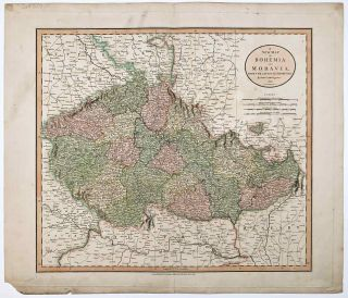 A New Map of Bohemia and Moravia, From the Latest Authorities. CZECHOSLOVAKIA