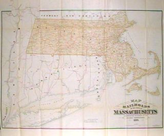 Map of the Railroads of the State of Massachusetts. MASSACHUSETTS - RAILROADS