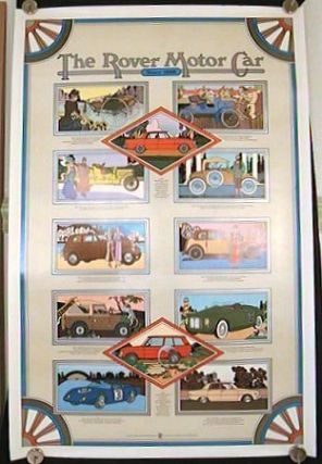 The Rover Motor Car Since 1888. [COLOR POSTER]. ROVER AUTOMOBILE - HISTORY