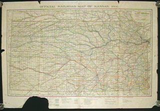 Official Railroad Map of Kansas, 1906. KANSAS