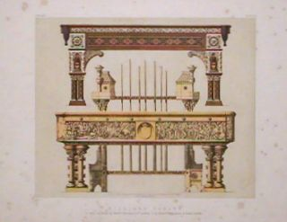 Billiard Tables. 1. With Cue-rack, by Messrs. Thurston & Co. London, 2 by Messrs. Burroughes &...