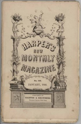 Harper's New Monthly Magazine. January 1866. VINTAGE VICTORIAN MAGAZINE - PACIFIC RAILROAD